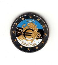 AV-VD Estland 2012 2 Euro Gemeinschaftsausgabe Farbe + Goldapplikation +Zfk MZ24