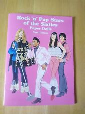 Tom Tierney Rock n Pop Stars of the 60s Paper Dolls Book Diana Ross Eric Clapton