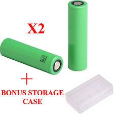 2 X Samsung INR IMR 18650 alto consumo de la batería + Caja de almacenamiento gratuito
