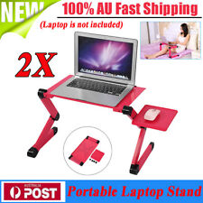 2x Adjustable Portable Laptop Computer Stand Desk Table Tray Bed Mouse Holder AU