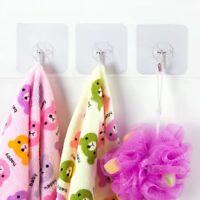 2pcs Wall Hanging Self Adhesive Hangers Seamless Adhesive Transparent Steel Hook