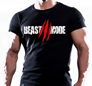 Train Like a Beast Functional Gym Training Workout Mode Black T-Shirt MMA UFC
