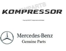 NEW Mercedes R170 SLK230 SLK32 AMG Front Fender Emblem Kompressor OES 1708170315