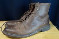 Frye James Lug Lace Up Boots Dark Brown Leather Mens 10.5 D. Great shape!