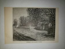 Johns Hopkins University Grounds of Clifton 1879 Sm Sketch Print
