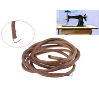 "72"" 183cm Leather Belt Antique Treadle Parts + Hook For Singer Sewing Machine~SH"