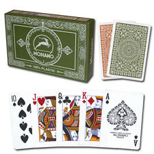 Modiano 100% plastic Poker Club Series playing cards, Poker/Regular, 2 deck set
