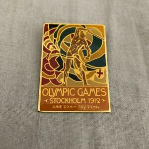 Olympic badge 1912 Stockholm design reprinted 4×3.5cm size used Gift Creations