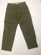 REI Men's 34 Regular Zip Off Pants Short Green Nylon Cotton