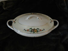 Bohemia Czecho Slowakia Cecil Oval Serving Bowl w/Lid and Handles/EXCELLENT