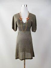 Atmosphere Design Womens Plunge Party Sexy Metallic Shiny Knit Dress sz 8 BG93