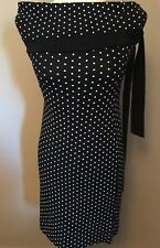 Jane Norman Bardot Black & White Spot Dress - UK 14 / Eur 42 - BNWT
