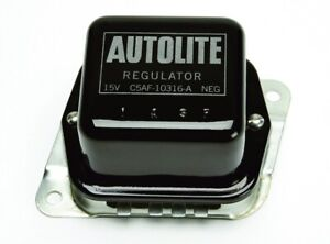 Voltage Regulator Black & Silver Autolite - Ford Licensed Part - Made in the USA