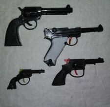 Vintage Lot of 4 Plastic Toy Clicker Guns 3
