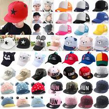 Baby Boys Girls Baseball Cap Adjustable Snapback Trucker Outdoor Sun Visor Hat