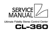 LUXMAN CL-360 Schematic Service Manual Repair Schaltplan Techniques