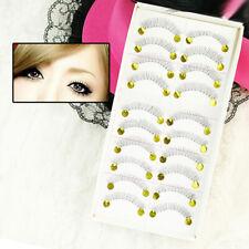 10 Pairs Black Lower Bottom False Fake Eyelash Eye Lashes Makeup Fashion Party