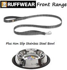 RUFFWEAR - Front Range Dog Lead / Leash With Crux Clip & Non Slip Food Bowl