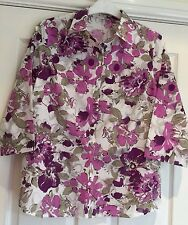 Damart Blouse, 3/4 Sleeves Size 26,Colour Pink/White Floral pattern.