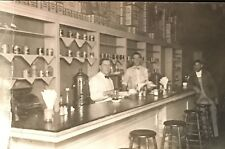 RPPC Photo Postcard ~ Men At Work Lunch Counter ~ Coffee Machine Cash Register