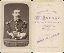 Anfray, Paris, Militaire nommé Georges Sarran, circa 1880 CDV vintage albumen ca
