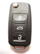 Replacement 3 button shell case for VW Volkswagen Tiguan remote flip key fob