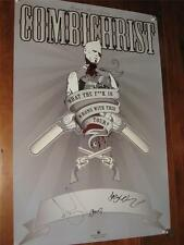 """COMBICHRIST"" - OFFICIAL 2007 HAND SIGNED PROMO POSTER - 24"" BY 36"" INCHES!."