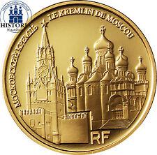 Frankreich 50 Euro 2009 Kreml in Moskau Goldmünze UNESCO-Weltkulturerbe