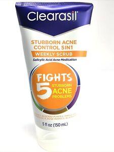 (2x) Clearasil Stubborn Acne Control 5-in-1 Weekly Facial Scrub Salicylic Acid