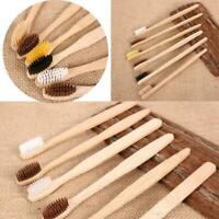 10PCS Environmental Soft Bamboo Toothbrush Wooden Handle Oral Care Teeth Brushes