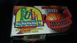 1992-93 Topps Fleer Full Court Basketball Box 300 Cards New Unopened Jordan?