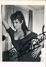 "Brigitte Bardot 1934- genuine autograph signed 4""x6"" postcard photo"