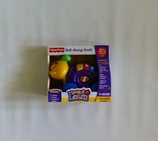 NIB Fisher Price Laugh & Learn Roll-Along Pals Snail