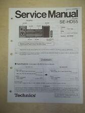 Technics Service/Repair Manual~SE-HD55 Power Amplifier