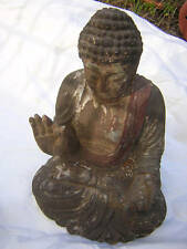 Buddha EDO Antique Polychrome Wooden  Japanese