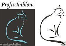 Malerschablonen, Schablone, Wandschablone, Kindermotive, Dekorschablone - Katze