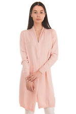 RRP €120 SOALLURE Cardigan Size M Pink Thin Knit Long Sleeve Made in Italy