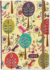 2013 Folk Art Birds 16-month Weekly Planner Compact Engagement Calendar