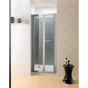 Porta doccia a soffietto cm 85 profilo cromo cristallo 6 mm h.195 cm