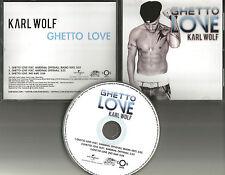 KARL WOLF w/ KARDINAL OFFISHALL Ghetto Love 3TRX EDIT & NO RAP PROMO CD single