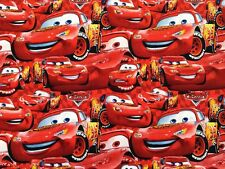 Disney Cars Packed McQueen 95 Red premium 100% cotton fabric by the yard