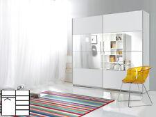 Schwebetürenschrank weiß mit spiegel  Kleiderschränke mit Spiegel | eBay