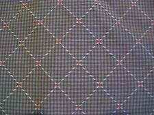 Brown Gingham Check Raised Diamond Dot Upholstery Fabric 1 Yd  3 in