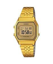 Casio Ladies Mid-Size Gold Tone Digital Retro Watch LA-680WGA-9DF