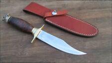 FINE Vintage Custom-made Carbon Steel Bowie Knife w/Figural Bear Head Pommel