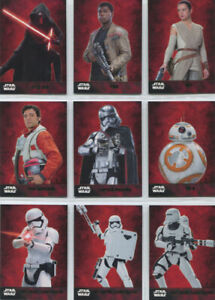 Star Wars the Force Awakens Series 1 Complete 100 Card Green Foil Parallel Set