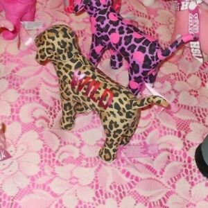 VICTORIA'S SECRET Plush Dogs Collection PINK Stuffed Animals All Colors Leopard