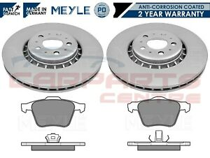 FOR VOLVO XC90 FRONT MEYLE PD ANTI CORROSION COATED VENTED BRAKE DISCS PADS