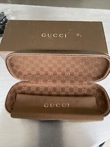 GUCCI Luxury Gold Hard Spectacle Glasses  Eyeglasses Lunettes Case