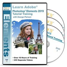 How To Gurus Photoshop Elements 2019 tutorial training 19 hrs 241 videos 3 DVDs